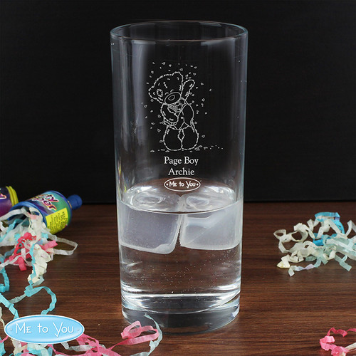 Personalised Me To You Engraved Wedding Boy Hi Ball Glass From Something Personal