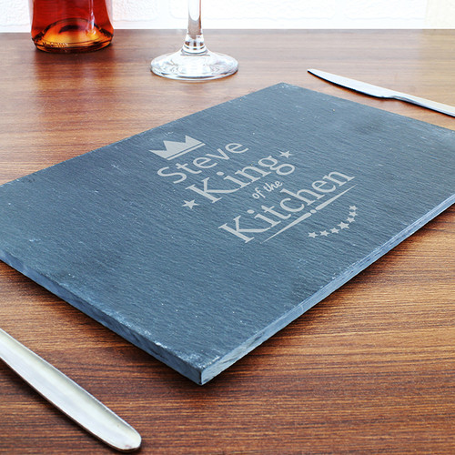 Personalised King Of The Kitchen Slate Cheeseboard From Something Personal