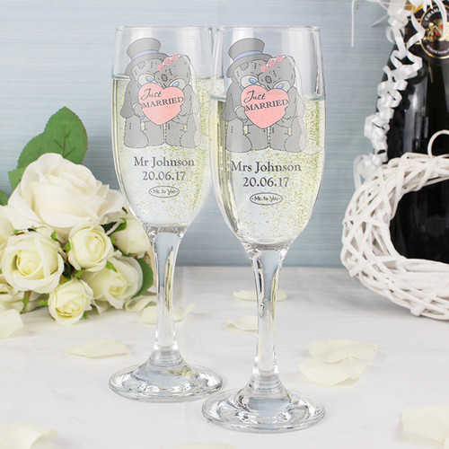 Personalised Me To You Wedding Pair Of Flutes From Something Personal