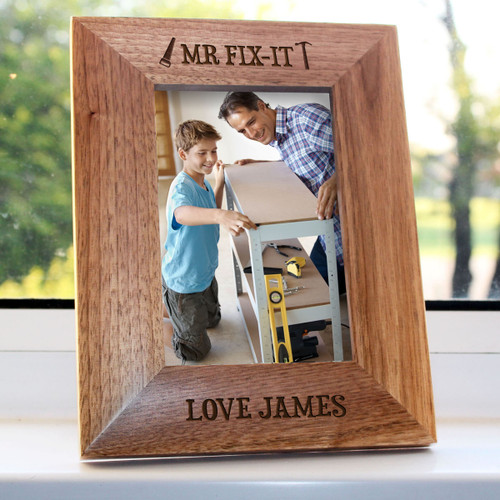 Personalised Mr Fix-It Engraved Photo Frame From Something Personal
