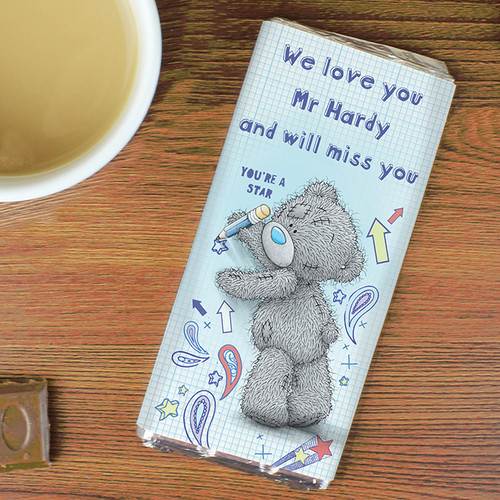 Personalised Me To You Teacher Chocolate Bar From Something Personal