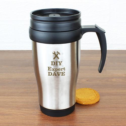 Personalised Man At Work Travel Mug From Something Personal