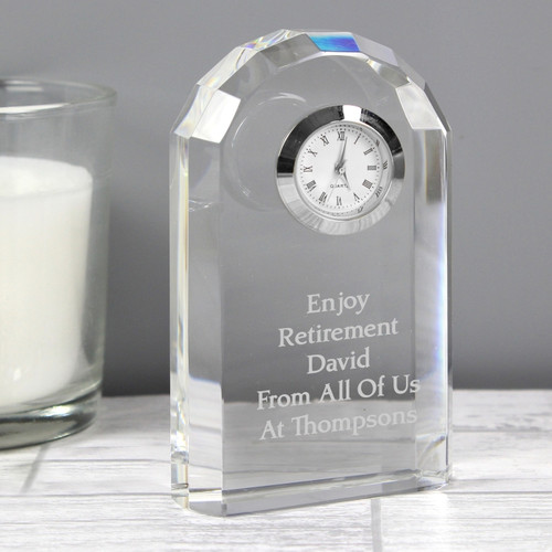 Personalised Crystal Clock From Something Personal