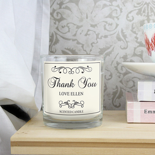 Personalised Black Swirl Scented Jar Candle From Something Personal