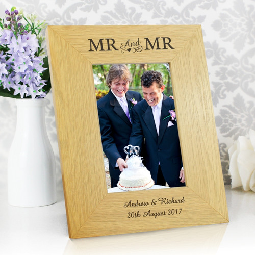 Personalised Mr & Mr Wooden Frame From Something Personal