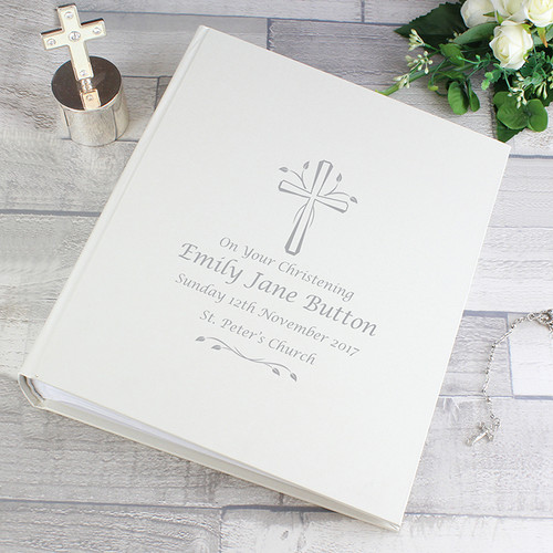 Personalised Silver Cross Photo Album With Sleeves From Something Personal