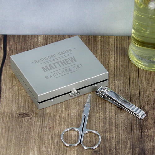 Personalised Handsome Hands Manicure Set From Something Personal