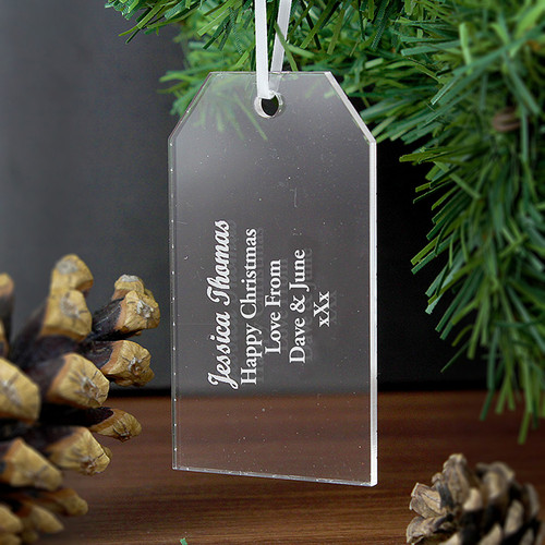 Personalised Acrylic Gift Tag Decoration From Something Personal