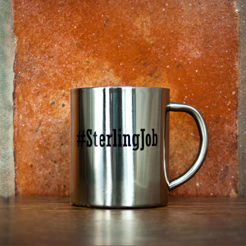 Personalised Hashtag Silver Outdoor Mug From Something Personal