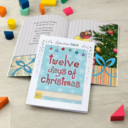 Personalised 12 Days Of Christmas Book From Something Personal