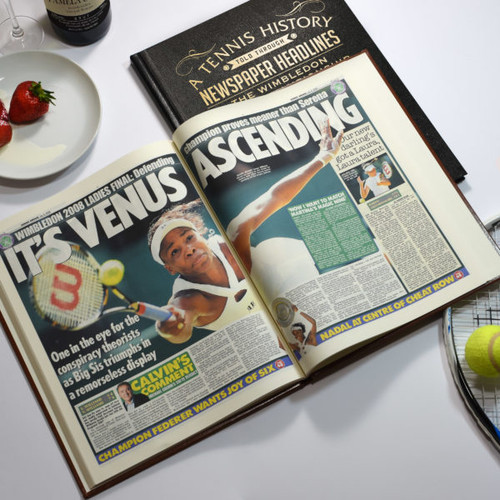 Personalised Wimbledon Tennis Newspaper Book From Something Personal