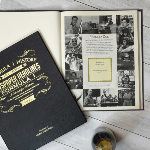 Personalised Formula One Newspaper Book From Something Personal