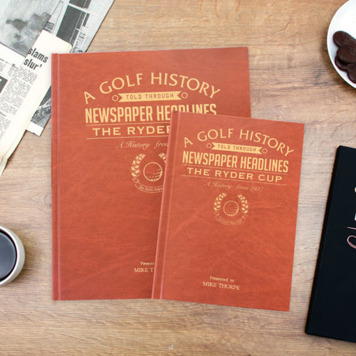 Personalised Ryder Cup Golf Newspaper Book From Something Personal
