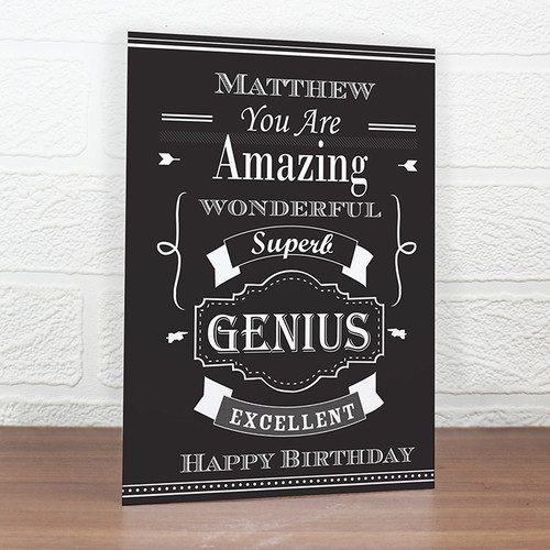 Personalised Vintage Typography Card From Something Personal