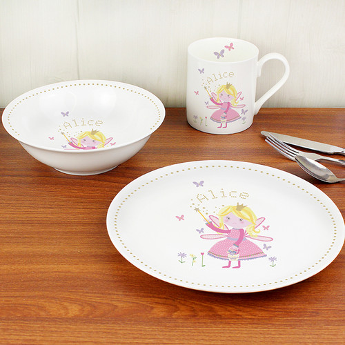 Personalised Garden Fairy Breakfast Set From Something Personal