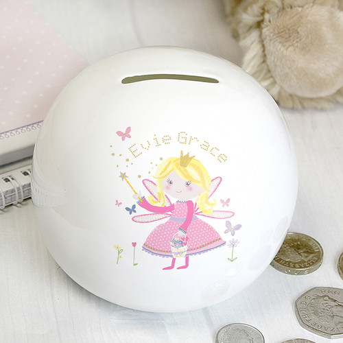 Personalised Garden Fairy Money Box From Something Personal