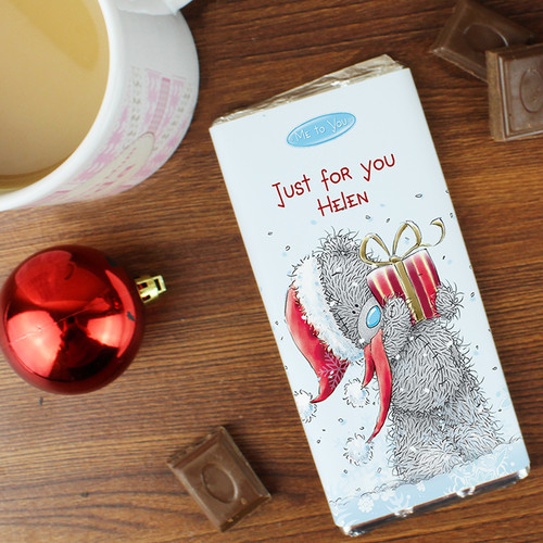 Personalised Me To You Christmas Chocolate Bar From Something Personal
