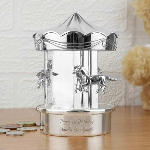 Personalised Carousel Money Box From Something Personal