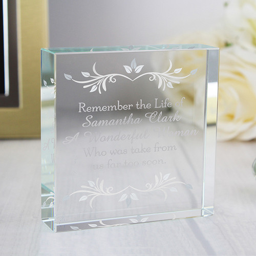 Personalised Sentiments Crystal Token From Something Personal