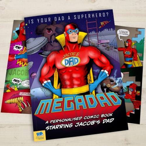 Personalised Mega Dad Comic Book From Something Personal