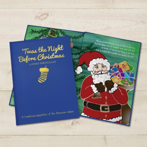 Personalised 'Twas the Night Before Christmas - Classic Hardback Book From Something Personal