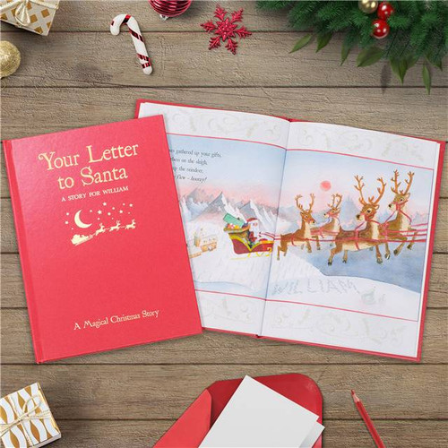Personalised Your Letter To Santa Embossed Classic Hardback From Something Personal