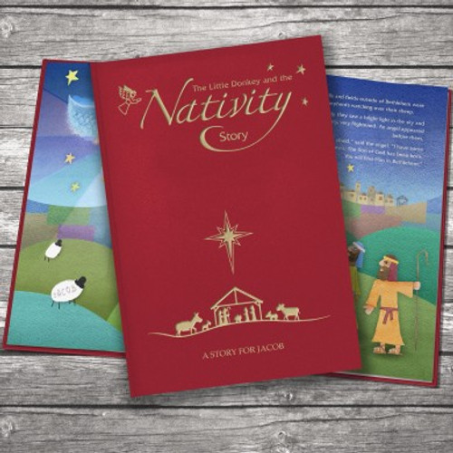 Personalised Nativity Story Embossed Classic Hardcover From Something Personal