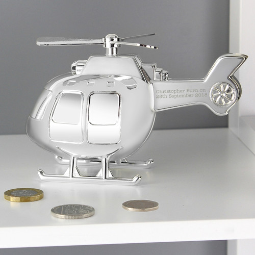 Personalised Helicopter Moneybox From Something Personal