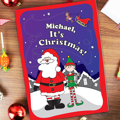 Personalised It's Christmas Elf Book From Something Personal