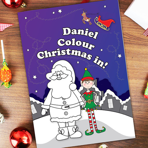 Personalised It's Christmas Elf Colouring Book From Something Personal