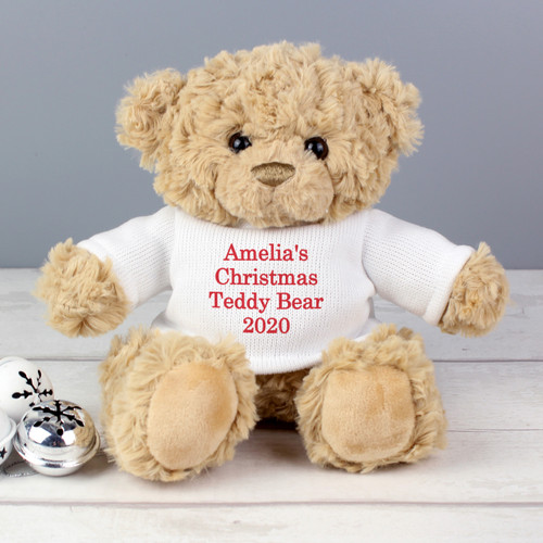 Personalised Christmas Message Bear From Something Personal