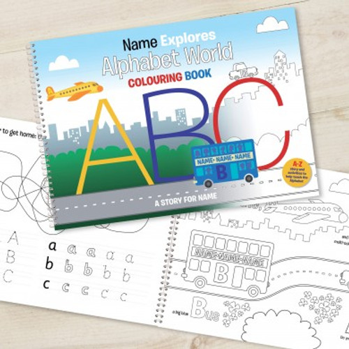 Personalised Alphabet World Colouring Book From Something Personal