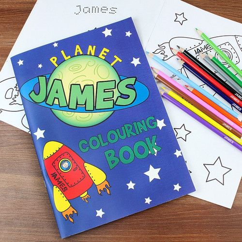 Personalised Space Colouring Set From Something Personal