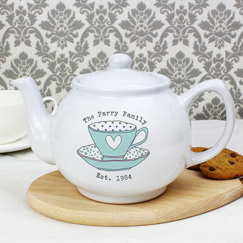 Personalised Vintage Tea Cup Small Teapot From Something Personal