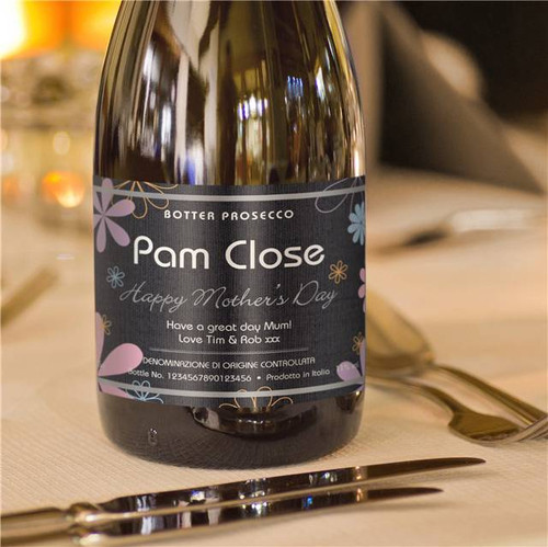 Personalised Mother's Day Labels Prosecco From Something Personal
