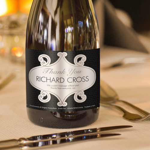 Personalised Thank You Labels Prosecco From Something Personal