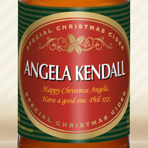 Personalised Christmas Label Cider From Something Personal