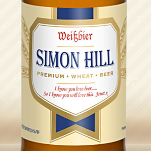 Wheat Beer With Personalised Label From Something Personal