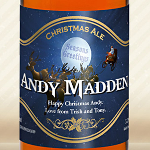 Personalised Beer With Christmas Label From Something Personal