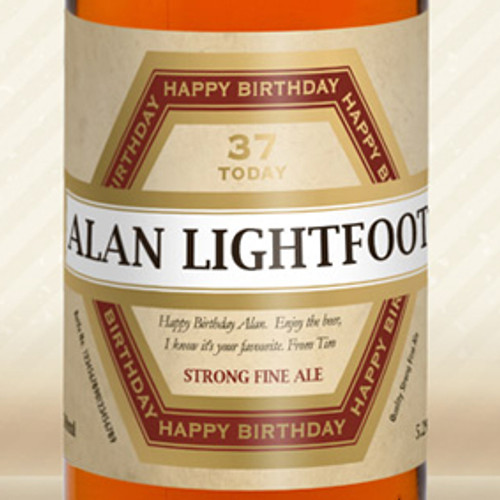 Personalised Beer With Birthday Label From Something Personal