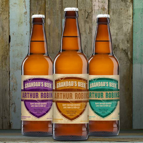 Personalised Beer 3 Pack Grandad's Beer Set From Something Personal