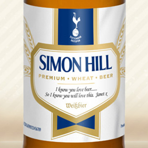 Personalised Spurs Labels Wheat Beer From Something Personal