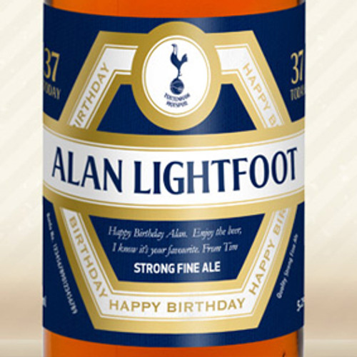 Personalised Spurs Beer With Birthday Label From Something Personal