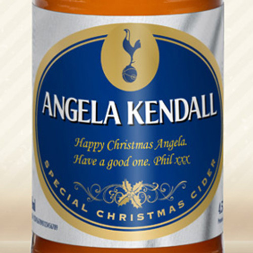 Personalised Spurs Christmas Label Cider From Something Personal