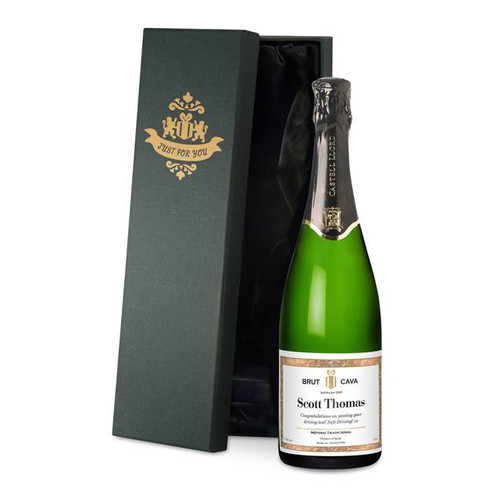 Personalised Cava With Classic Labels From Something Personal