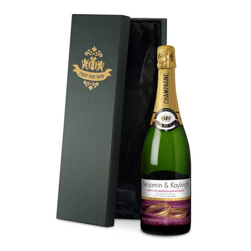 Personalised Anniversary Labels Champagne From Something Personal