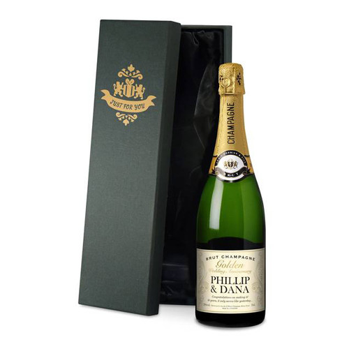Personalised Gold Anniversary Labels Champagne From Something Personal