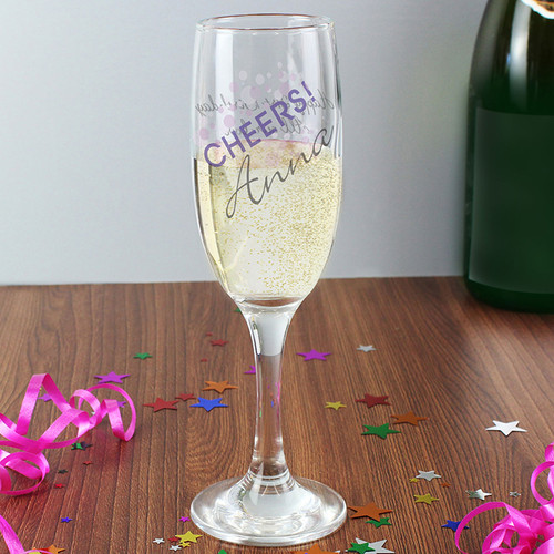 Personalised Cheers Glass Flute From Something Personal