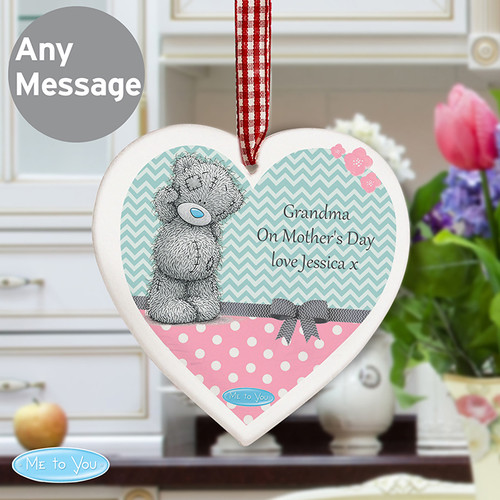 Personalised Me To You Pastel Belle Wooden Heart From Something Personal