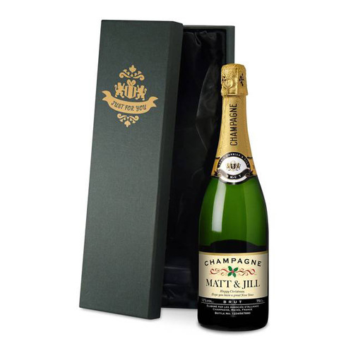 Personalised Christmas Champagne From Something Personal